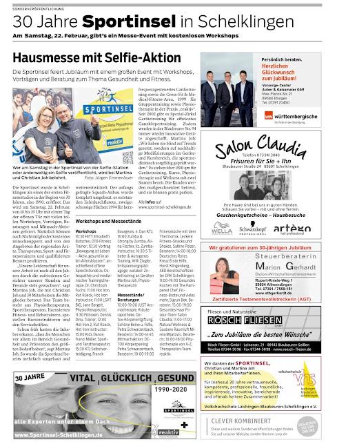 . Pressebericht zur anstehenden Hausmesse