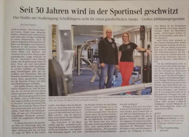 . Redaktioneller Bericht Schwäbische Zeitung 21.02.2020